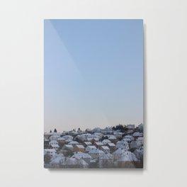 Snowy rooftops Metal Print