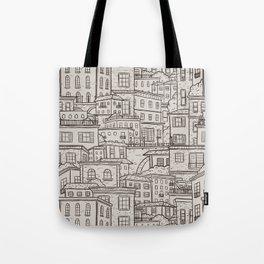 Urbana Ivory & Charcoal Tote Bag