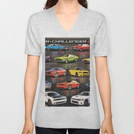 Charger - Challenger History Automotive Evolution Poster Unisex V-Neck