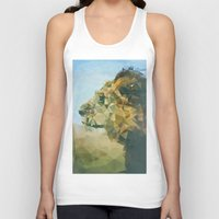 lion Tank Tops featuring Lion by Esco