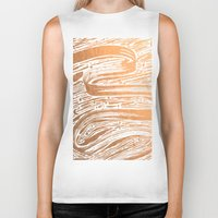 rose gold Biker Tanks featuring Rose Gold Galaxy by IndigoEleven