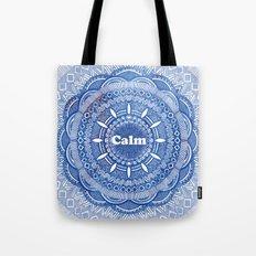Calming Serenity Blue Mandala Tote Bag