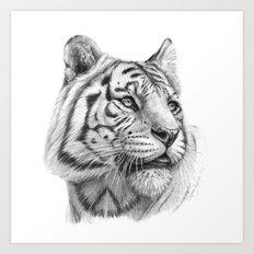 White Tiger G2011-003 Art Print