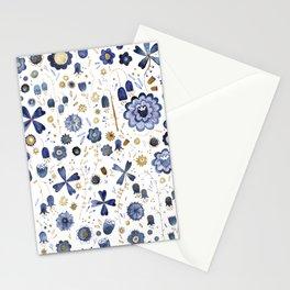 Indigo Flower Mashup Stationery Cards