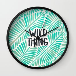 Wild Thing – Mint Palette Wall Clock
