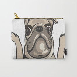 Pug King Design I Do What I Want Carry-All Pouch