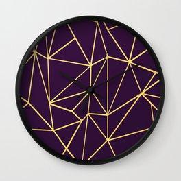 Ultra Purple Geo Wall Clock