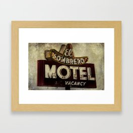 Vintage El Sombrero Motel Sign Framed Art Print