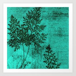 Botanical Turquoise Art Print