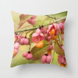 Pink and orange Throw Pillow
