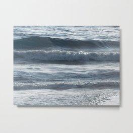 Ocean Ripples and Waves Metal Print