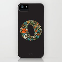 Hippie Floral Letter O iPhone Case
