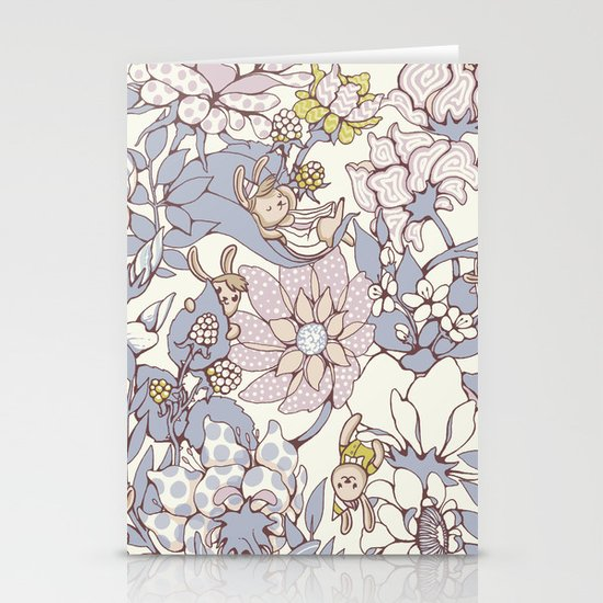 Garden party - jasmine tea version Stationery Cards