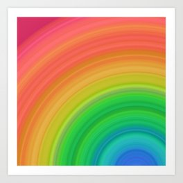 Bright Rainbow | Abstract gradient pattern Art Print