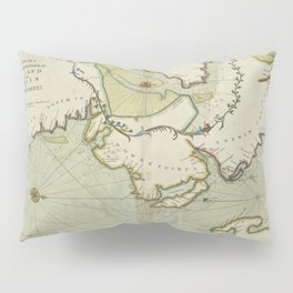 A chart of the sea coast of IRELAND from Dublin to London-Derry , Lough Foyle or the passage to London-Derry Pillow Sham