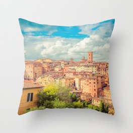 A View of Siena Italy Throw Pillow