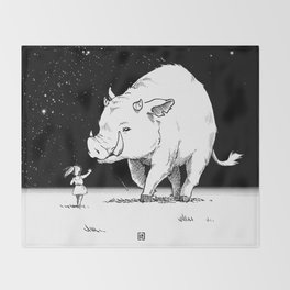 Edge of the universe: Warthog Throw Blanket