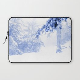 Icy forest in inky blue Laptop Sleeve