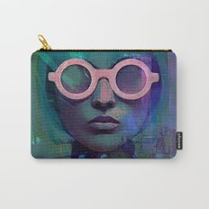 Pink Glasses girl Carry-All Pouch
