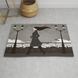 Vampiress walks into Paris Twilight Rug