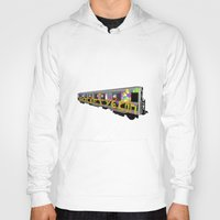 subway Hoodies featuring subway art by design lunatic
