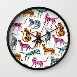 Tiger Collection – Pink & Blue Palette Wall Clock