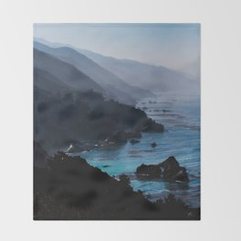 Big Sur Blue Throw Blanket