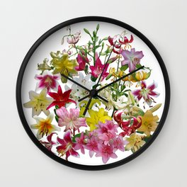 Lots of lilies to love! Wall Clock