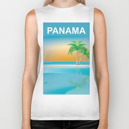 Panama - Skyline Illustration by Loose Petals Biker Tank