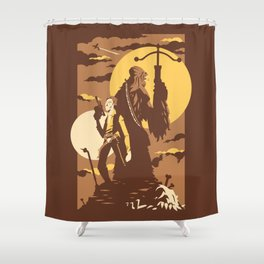 The Scoundrel & The Wookie Shower Curtain