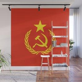 Russian Communist Flag Hammer & Sickle Wall Mural