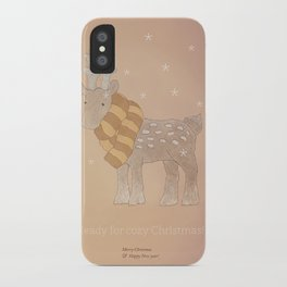 Christmas creatures- The Cozy Deer iPhone Case