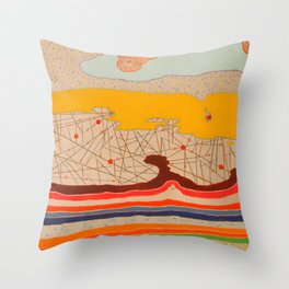 obstructions Throw Pillow