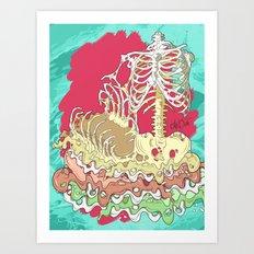 Flesh illustration Art Print