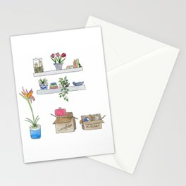Watercolor Moving Day Stationery Cards