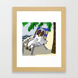 Beach Owl Framed Art Print