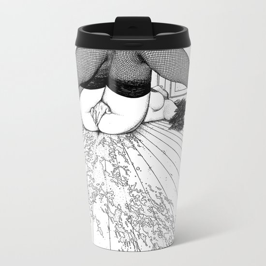 asc 632 - L'archipel du plaisir (Liquid joy II) Metal Travel Mug