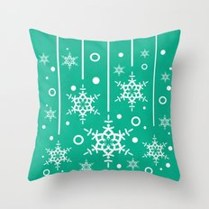 Let it Snow...(Emerald) Throw Pillow