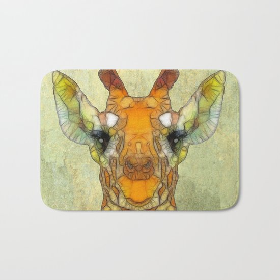 abstract giraffe calf Bath Mat