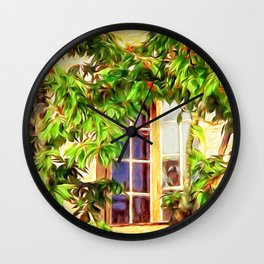 Garden Window Wall Clock