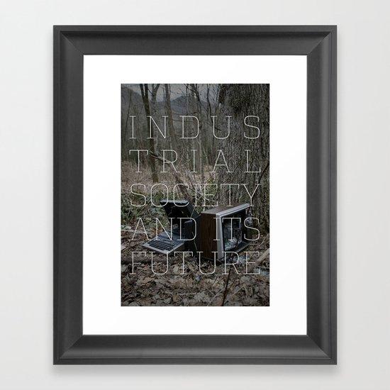 Technological Slavery Framed Art Print