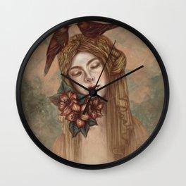 Madonna of the birds Wall Clock
