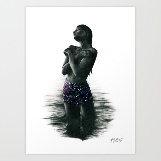 Crystal Lake. Art Print