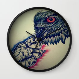 Owl/heart Wall Clock