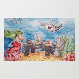 Mermaid Tea Party Rug