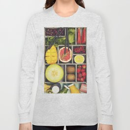 Fresh juices or smoothies with fruits and vegetables Long Sleeve T-shirt