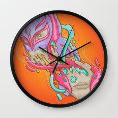 Happily melting Rey Mysterio Wall Clock