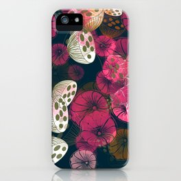 Seed Pods & Indian Hookah Flowers iPhone Case