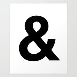 Ampersand Black and White Helvetica Typography Design Poster Home Decor Wall Art Scandinavian Decor Kunstdrucke