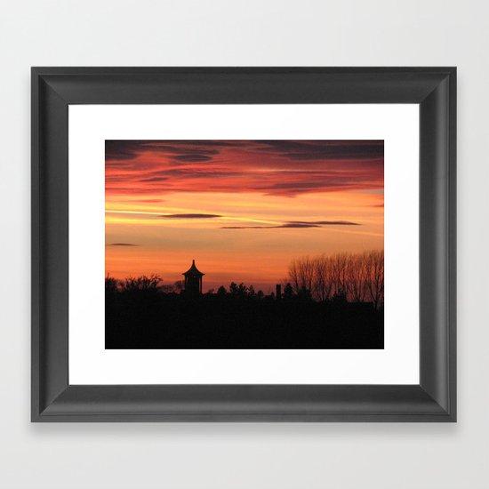 Sunset Over Ingoldisthorpe Framed Art Print